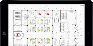 The Office Us Floor Plan Ems Software Office Hoteling And Space Reservation Software