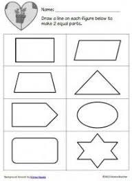 shape equal parts worksheet printable maths worksheets math