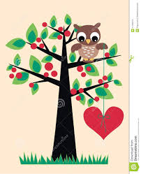 cute trees a cute owl sitting in a tree royalty free stock photo image