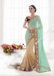 bridal collections sarees sea blue royal purple and golden bridal collections