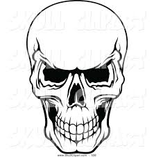 scary scull clip art vector clip art of a frightening black and