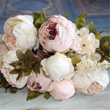 Artificial Peonies Aliexpress Com Buy Artificial Flowers Silk Flower European Fall