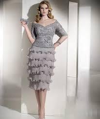 2015 vintage plus size mother bride dresses lace half sleeve tea