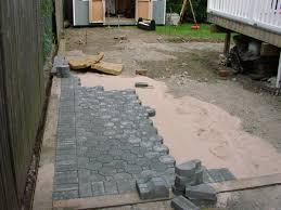 Diy Patio Pavers Installation Installing A Paver Patio Free Home Decor Oklahomavstcu Us