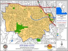 studio city map area boundaries and map studio city neighborhood council