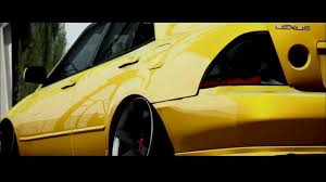 yellow lexus is lexus is 300 stance gta sa version youtube