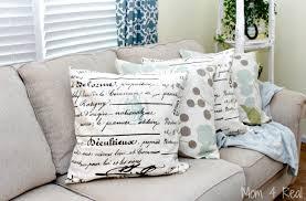 How Do I Make Cushion Covers How To Make No Sew Pillows Mom 4 Real