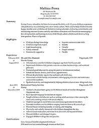 resume sample nanny resume sample nanny resume cover letter
