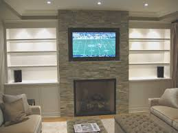 fireplace top hang tv above brick fireplace amazing home design