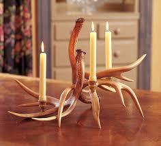 Blackforest Decor Rustic Candle Holders 3 Antler Candelabra Black Forest Decor