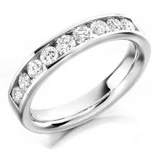 half eternity ring the raphael collection platinum 0 70ct brilliant cut diamond