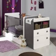 pas de chambre pour bébé lit bebe evolutif avec tiroir blanc taupe 70x140 jeantaum01e