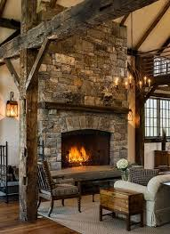 stone fire places fireplace in a stone barn addition by crisp architects