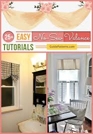 Making A Window Valance 25 Easy No Sew Valance Tutorials Guide Patterns