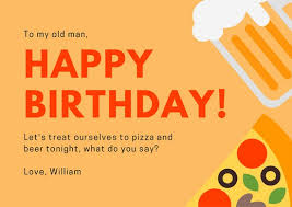 orange and red dad birthday card templates by canva