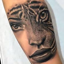 cool mountain lion tattoo design