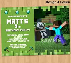 minecraft birthday invitations create easy minecraft birthday invitations printable egreeting