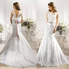designer wedding gown 2016 rhinestone couture designer wedding dresses mermaid white