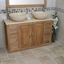 Bathroom Cabinets For Bowl Sinks Bathroom Vanity Twin Set Cabinet Double Twin Sink Bowl Basin