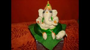 making of ganesh idol with maida and rice flour eco friendly at