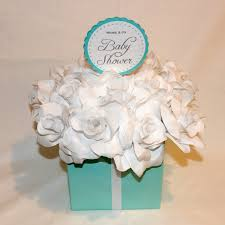 baby shower centerpiece tiffany co inspired flower box
