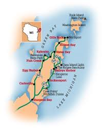 wisconsin scenic drives map door county driving tour midwest living