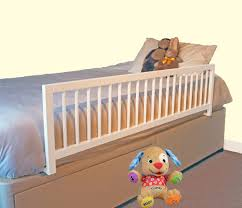 Bed Rail For Crib by Safetots Extra Wide Wooden Bed Rail White Safetots Co Uk