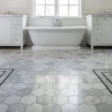 black rounds or look hex tile for bathroom floor