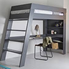 loft bed with desk julien kids loft bed desk in brushed grey pine woood cuckooland