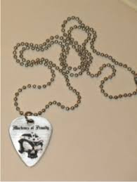 Engraved Guitar Pick Necklace Engraved Personalized Guitar Pick Necklace