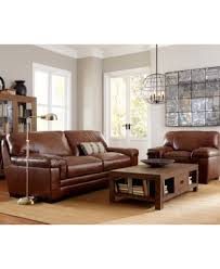 Myars Leather Sofa Furniture Macys - Leather chairs and sofas