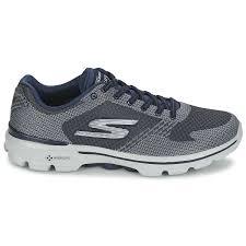 skechers womens tennis shoes men sports shoes go walk 3 grey