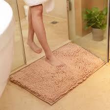 Soft Bathroom Rugs by Washable Soft Shaggy Non Slip Absorbent Bath Mat Bathroom Shower