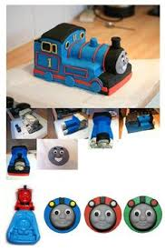 picture tutorial thomas the train cake topper how to make thomas