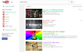 Youtube Doge Meme - a google doodle and youtube easter eggs junk mail blog