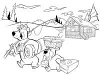 coloring pages of yogi bear coloring pages yogi bear s jellystone park in millrun