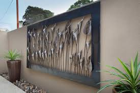 Garden Wall Art Stimulating Outside Metal Wall Art Tags Outdoor Wall Ornaments