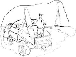 Dune Buggy Coloring Book Page Surfboard Beach Atv Offroad Surfboard Coloring Page