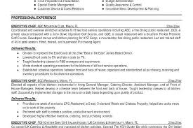 sample executive chef resume executive resumes samples sample