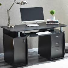 Beech Computer Desk Black Beech Or White 3 Drawer Computer Desk Gilligan Sales