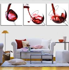 online get cheap 3 piece wine wall art aliexpress com alibaba group