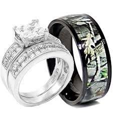 his and camo wedding rings wedding ring set