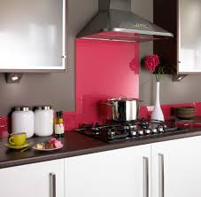 pink glass splashback kitchen kitchens backsplash
