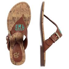 personalized brown faux leather everyday sandals