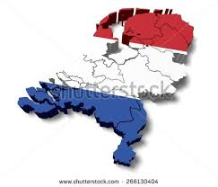 netherlands map flag 3d netherlands map flag stock illustration 266130404