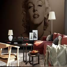chambre marilyn marilyn photo papier peint noir blanc peintures murales