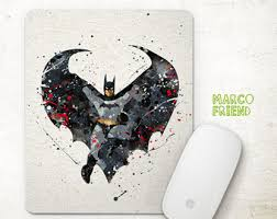 Batman Desk Accessories Batman Mousepad Etsy