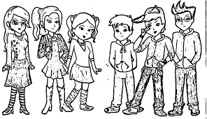 munk as humans alvin and the chipmunks coloring page