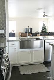 white kitchen cabinets with farm sink how to install an apron sink in a stock cabinet pneumatic