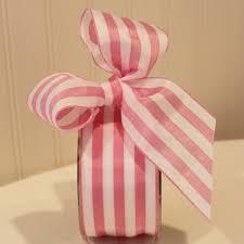 ribbon by the yard ribbon pink and white striped ribbon 2 wide ribbon by the yard